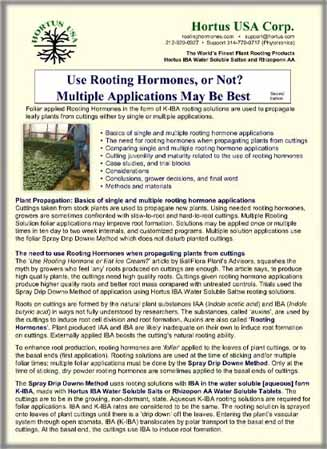 Use Rooting Hormones or not